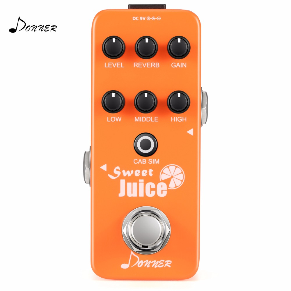 Donner Guitar Effect Pedal Sweet Juice Mini Preamp