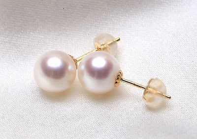charming pair 11-12mm south sea round natural white pearl earring>jewerly free shippingcharming pair 11-12mm south sea round natural white pearl earring>jewerly free shipping