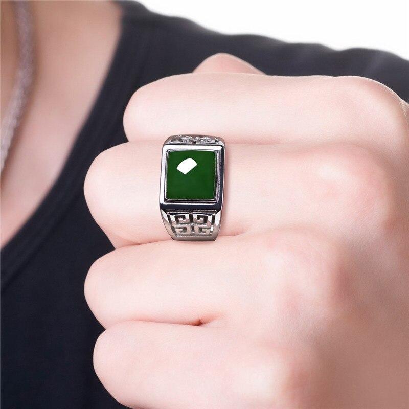 2020 Anillos Bague Femme Promotion garçons Semi-précieux anneaux Anel bloc mâle anneau S925 doigt ouvert, personnalité moyenne Dominee