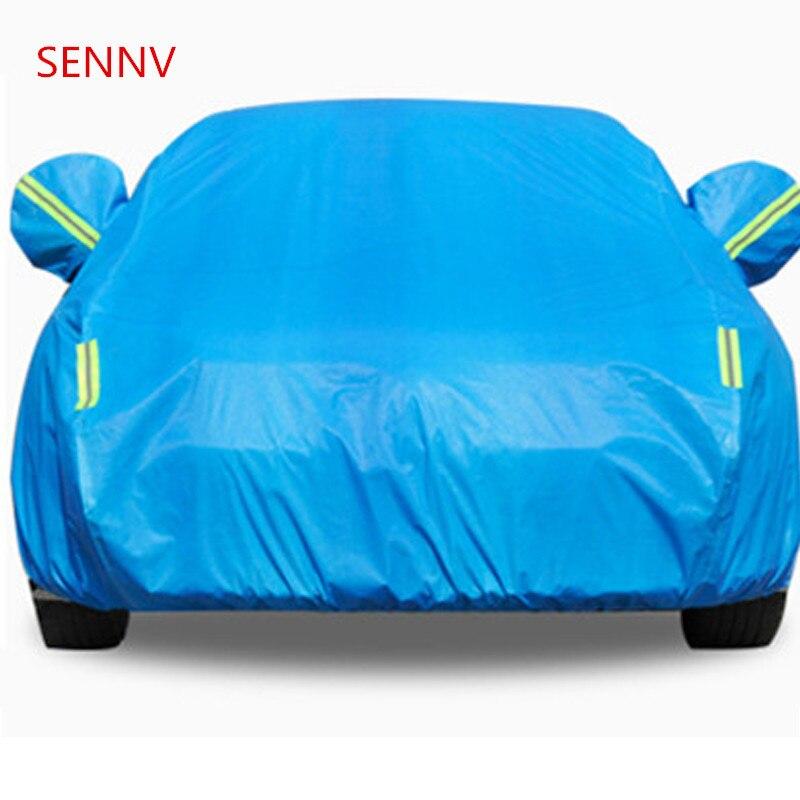 SENNV Водонепроницаемый полный автомобилей Обложки солнце пыли защиты от дождя крышка автомобиля авто внедорожник защитный для Mercedes benz w203 w211 ... ...
