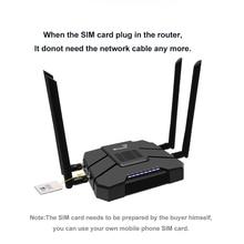 모뎀 와이파이 라우터와 3g 4g lte 라우터 강력한 신호 4G 모바일 라우터 와이파이 리피터 5g 및 2.4g 와이파이 신호 야외 여행