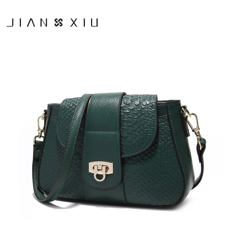 JIANXIU Brand Women Messenger Bags Fashion Shoulder Crossbody Genuine Leather Bag 2018 Newest Crocodile Texture Tassen