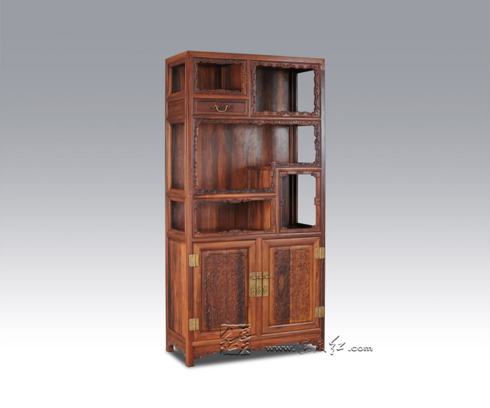 Charmant Solid Wood Storage Bookcase Living Room Office Filing Cabinets Redwood  Rosewood Magazine Racks Combined Bookshelf Multi Function In Living Room  Cabinets ...