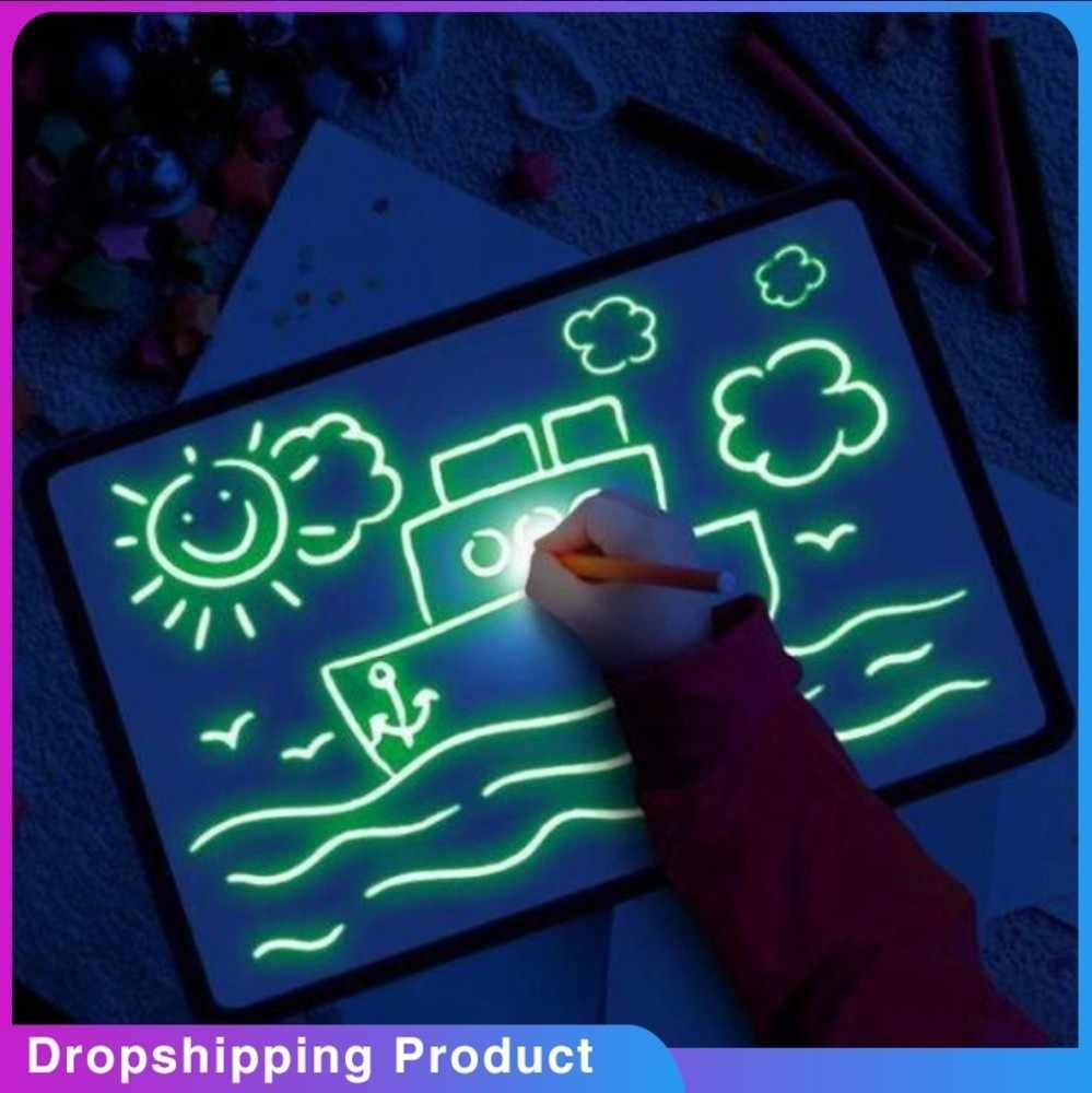 Draw With Light Children's Illuminate Drawing Board Glowing Paint Glow Light Tablet  Fun And Developing glowing drwaing