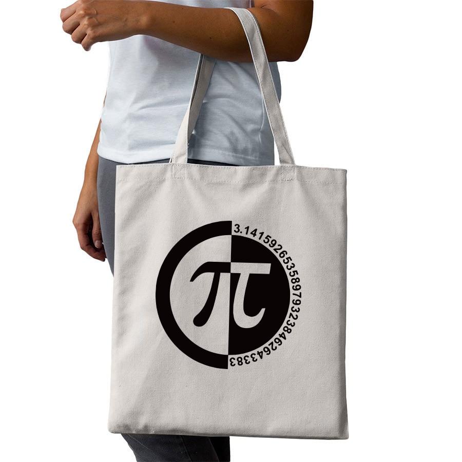Geek Tote Bags Things Just Got Real Math Element Shopping Bags Fashion Men Women Shopping Travel Canvas Bags