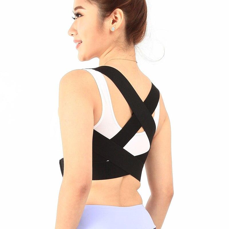 Healthsweet Adjustable Back Posture Corrector Brace Back Shoulder Support Belt Clavicle Posture Correction Belt for Men Women