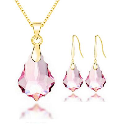 Women's Glass Teardrop Jewelry Set