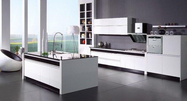 Lurus Desain Kayu Kitchen Set K025 Di Lemari Dapur Dari Perbaikan
