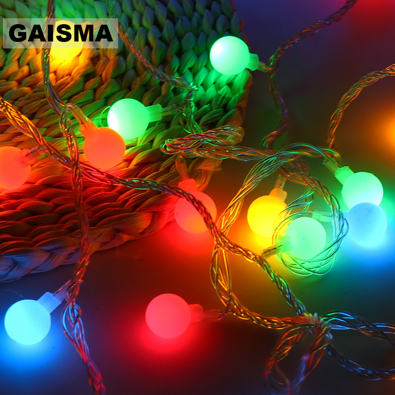 50M 400 Bulbs Christmas LED Lights Decoration Garland Fairy Lights String For Wedding Party Holiday Decor Outdoor Lighting Chain