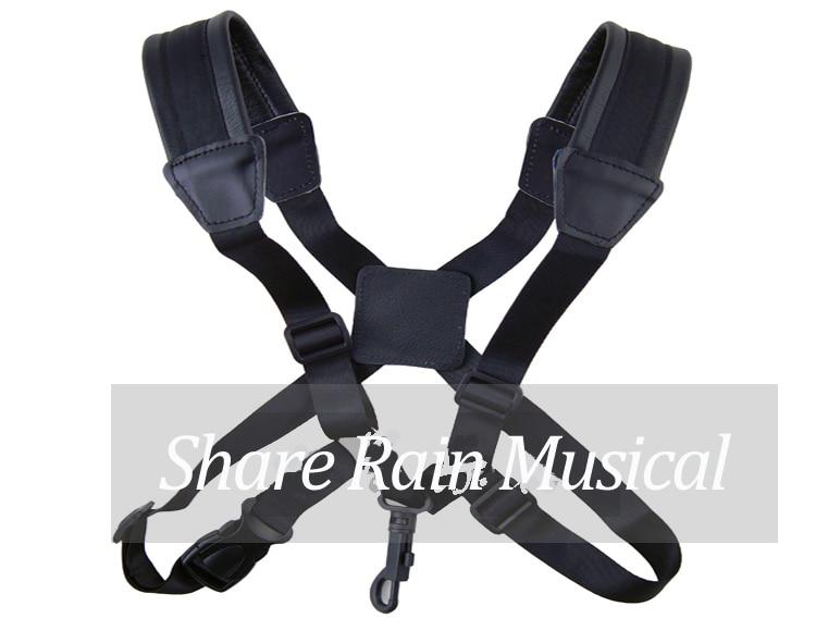 Share Rain High quality sax  two  shoulder  straps  alto  tenor soprano sax straps Double Shoulder Strap