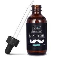 1 개 100% 천연 유기농 수염 오일 수염 밤 크림 수염 성장 건강한 보습 남성 수염