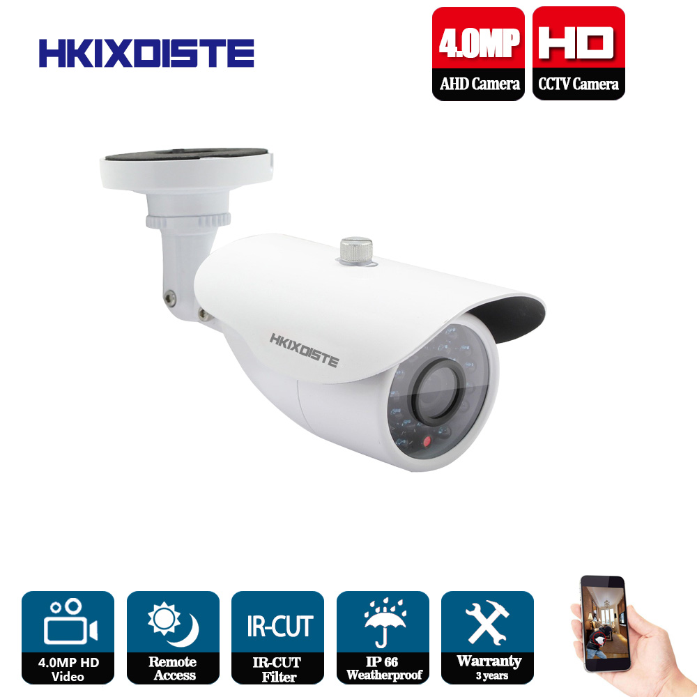 HKIXDISTE Hot HD 4MP IMX322 AHD 4MP System CCTV AHD Camera Outdoor Waterproof Small Metal Bullet IR 4MP Security Surveillance gadinan full hd ahd 3mp 4mp camera 6 array ir led night vision bullet metal outdoor waterproof surveillance ahd cctv security