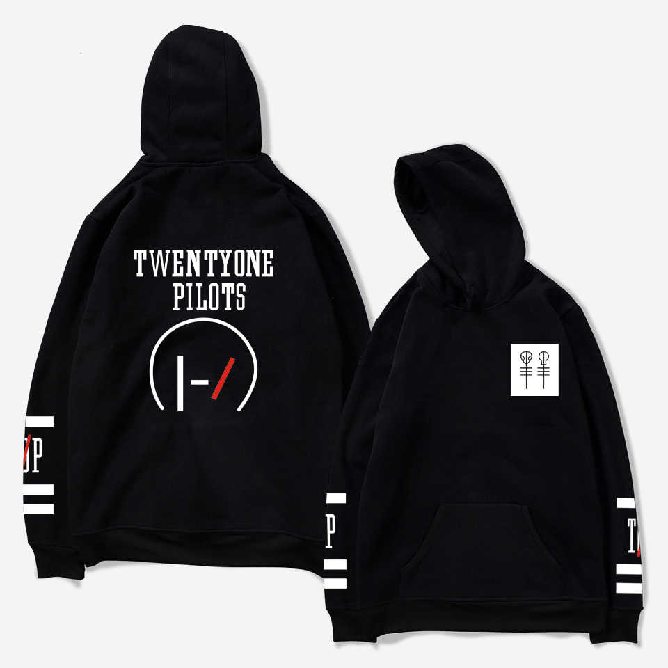 Twenty One Pilots Men's Hooded Pocket Hoodies Hipster Comfortable Fashion Unisex Women/Men Hoodies Kpop Harajuku Sweatshirt 4XL