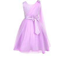 Baby Girl Bow Tulle Clothing Dress For Infant Floral Princess Dress Flower Girl Communion Dress