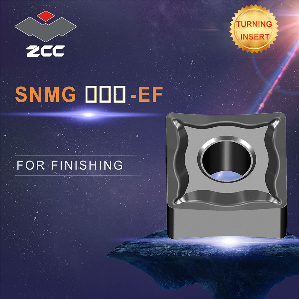 ZCC.CT cnc inserts 10pcs/lot SNMG <font><b>120404</b></font> 08 12 EF lathe cutting tools coated cemented carbide turning inserts steel finishing image