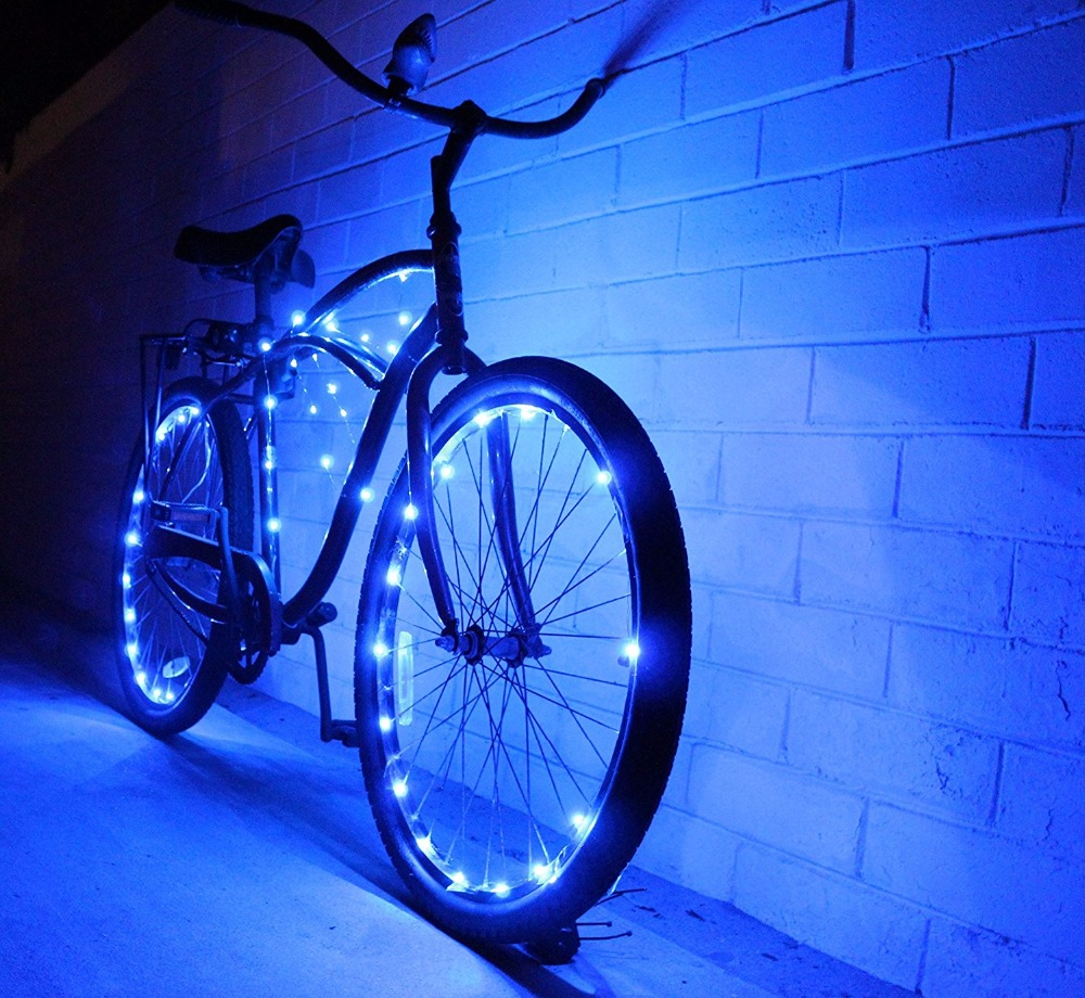 Ultra Bright LED - Bike Wheel Light String (2pcs 1 pack) - Assorted Colors Bicycle Tire Accessories- Burning Man Accessory