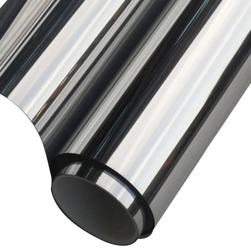 New silver insulation window film stickers solar for 2 way mirror window film