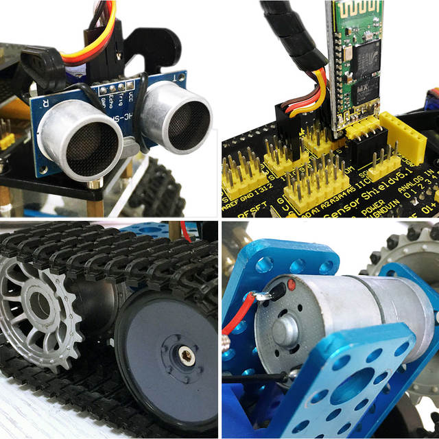 US $69 99 |keyestudio Programabl Tank Robot for Arduino Starter Project  Smart Car Kit with UNO R3+ Tutorial book STEM Robot Education -in Home