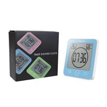 CV Digital Bathroom Clock, Countdown Alarm Timer, Waterproof Shower Clock, Digital Thermometer Clock
