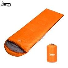 Легкий спальный мешок для пустыни и лисы, 220x75 см, портативный, 1 кг, для походов на открытом воздухе, кемпинга, компрессионная посылка, водонепроницаемый спальный мешок