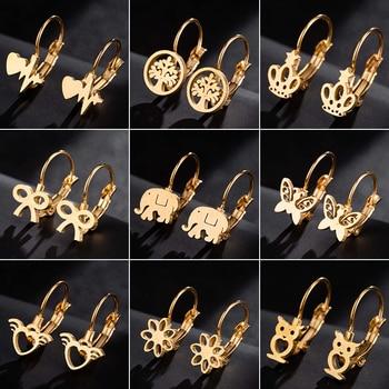 Jisensp в богемном стиле Модные женские украшения, серьги геометрической формы животных Нержавеющаясталь Стад Серьги, лучший подарок для девочки, детское pendientes
