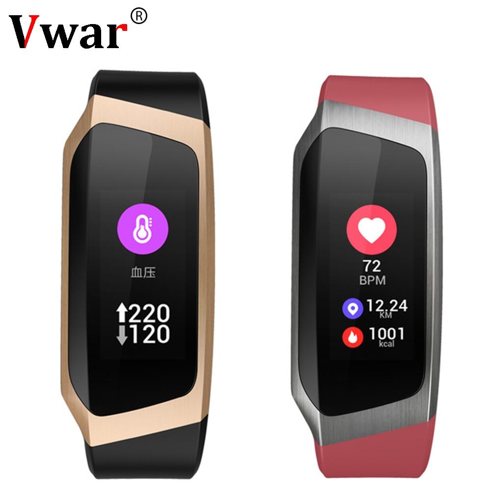 Vwar Smart Band 2018 Color Touch Screen ip67 Waterproof Blood Pressure Oxygen Heart Rate Monitor Sport Bracelet Talk Band Mi 2