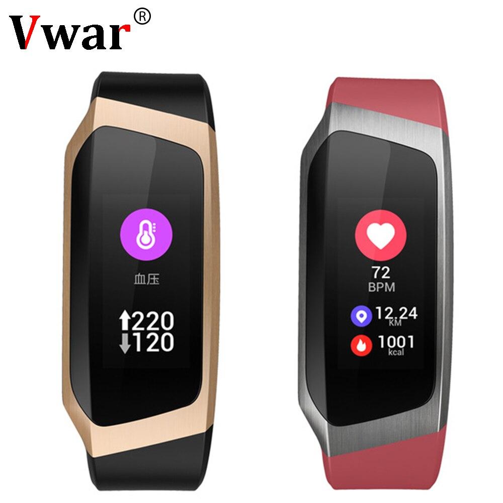 Vwar Smart Bande 2018 Couleur Tactile Écran ip67 Étanche Sang Pression D'oxygène Moniteur de Fréquence Cardiaque Sport Bracelet Parler Bande Mi 2 3