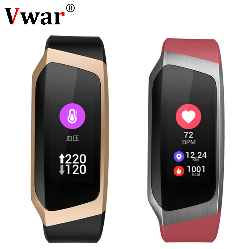 Vwar Smart Band IP67 Waterproof Wristband Blood Pressure Fitness Smart Bracelet Heart Rate Monitor Sport Fitness Bracelet Tracker smartband Mi fit 4 3 activity fitness tracker for Xiaomi Huawei Honor Android IOS Phone image