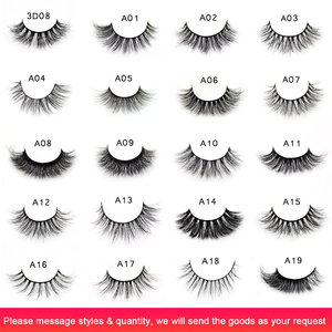 Image 2 - Visofree 25 pairs/lot Mink Eyelashes Full Volume Stunning 3D Mink Lashes Handmade Full Strip Lashes maquillage makeup Eye lashes