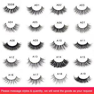 Image 2 - Visofree 25 paren/partij Mink Wimpers Volledige Volume Prachtige 3D Mink Wimpers Handgemaakte Volledige Strip Wimpers maquillage make wimpers