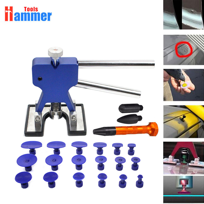 Paintless Dent Repair Tools Set PDR Golden Dent Lifter PDR Glue Tabs Auto Body Dent Removal tools Car Dent Removal tools pdr tools for car kit dent lifter glue tabs suction cup hot melt glue sticks paintless dent repair tools hand tools set