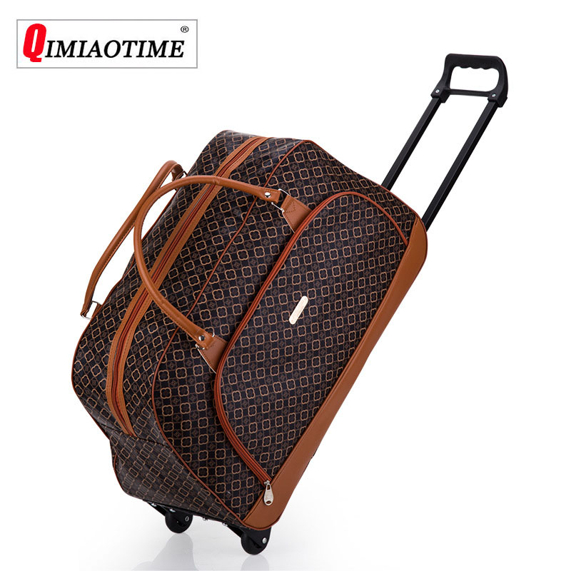 Unisex Handbags Boarding Bag High Quality PU Portable Trolley Bag With Wheel Luggage Maletas De Viaje Con Ruedas EnvioGratis