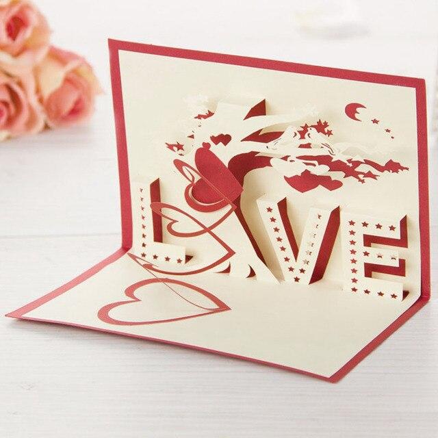 3d Laser Cut Handgemachte Schnitzen Liebe Baum Papier Einladung