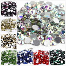 s6~ss34 AAAAA Top Quality Crystal Non Hotfix Rhinestone Super Bright Glass Strass 3D Nail Art Decoration DIY Dress Clothing viborg 55cm 22 top quality super smooth