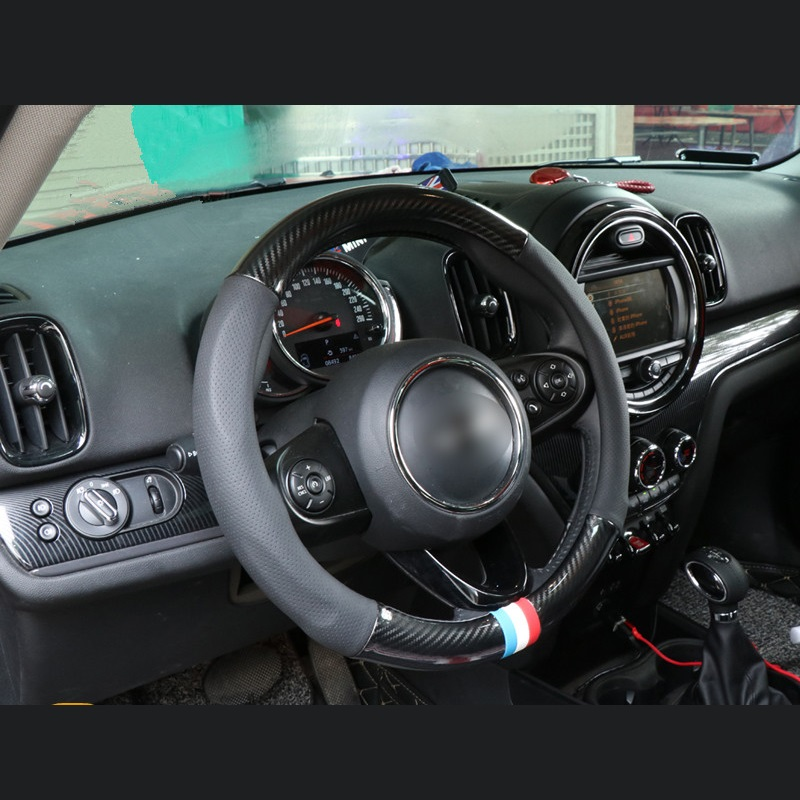 38cm Universal PU Leather Car Steering Wheel Cover Case for BMW Mini Cooper F54 F55 F56