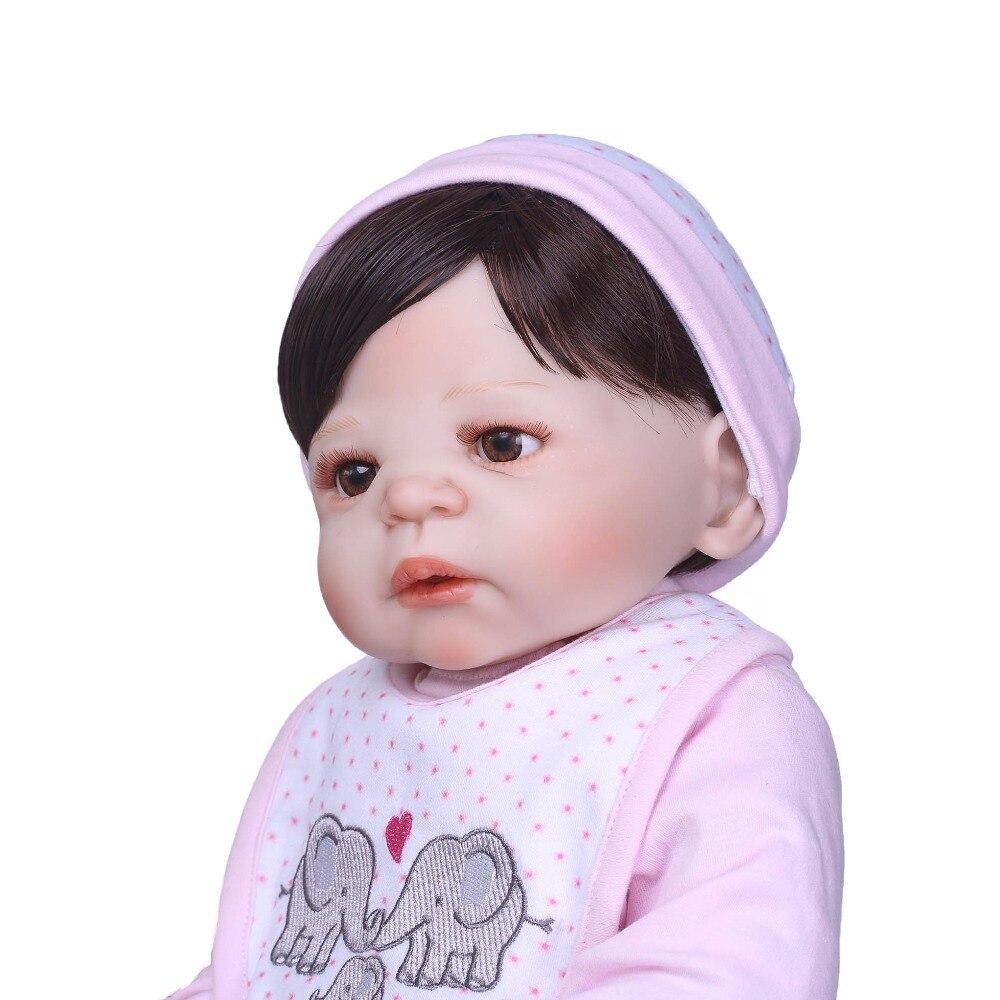 NPK 56 ซม. จริงเต็มรูปแบบซิลิโคน Reborn ตุ๊กตาเด็กทารกของเล่นที่สมจริงทารกแรกเกิดทารกเจ้าหญิงแฟชั่นตุ๊กตาของเล่น bebes Reborn-ใน ตุ๊กตา จาก ของเล่นและงานอดิเรก บน   3