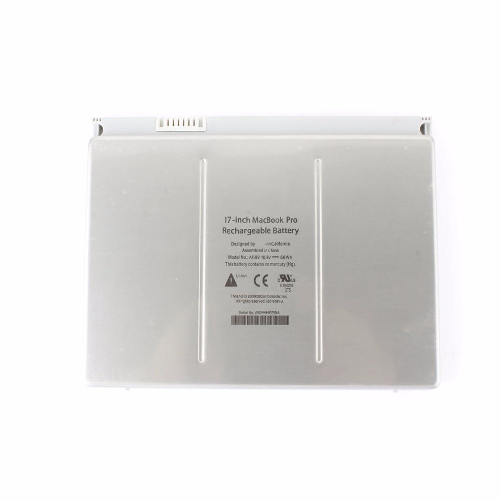 10.8 v 68WH Nouveau Original A1189 batterie d'ordinateur portable pour Apple Mac Pro17Inch A1151 MA611 MA458 MB166 - 3