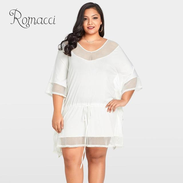 mini white dress size Plus