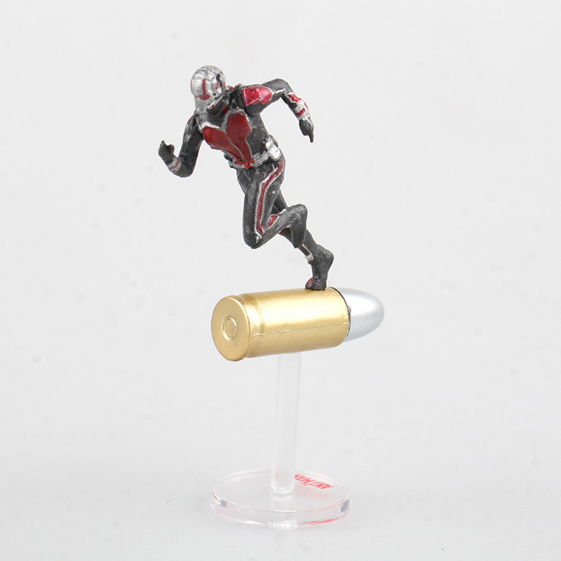 Marvel Civil War Captain America Super Hero Ant Man Wasp Mini PVC Action Figure Collectible Model Kids Toys Doll 6.5cm anime captain america civil war original bandai tamashii nations shf s h figuarts action figure ant man