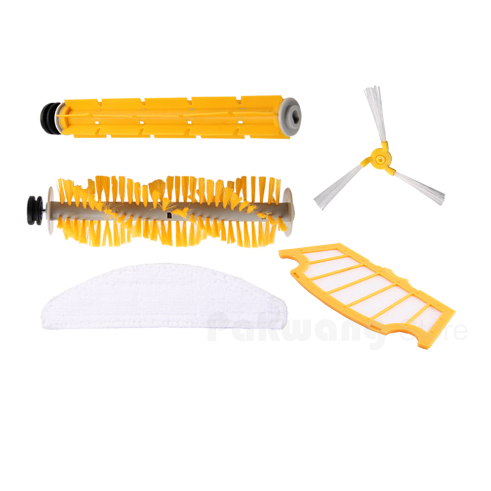 Robot Vacuum Cleaner A325 Accessories,Including  A325 Hair Brush Rubber Brush Side Brush Filter and Mop vacuum cleaner parts for a325 side brush hair brush mop filter