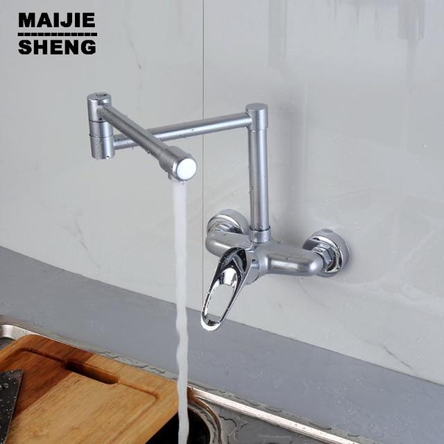 Wand Wasserhahn Kche Simple Wand Montiert Zwei Griffe Zwei Lcher