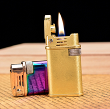 Original Lighter Retro Gasoline Kerosene Lighter Genuine Ultra Thin Cigarette Lighter Cigar Fire Briquet Petrol Lighters LFB805
