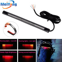 Car-Styling Universal Flexible 12V 48 LED SMD Strip Turn Signal Light Motorcycle Brake Stop Signal Light Motorcycle Accessories universal flexible led strip stop light motorcycle turn signal brake tail strip 48 smd led strip tail light motorcycle motorbike