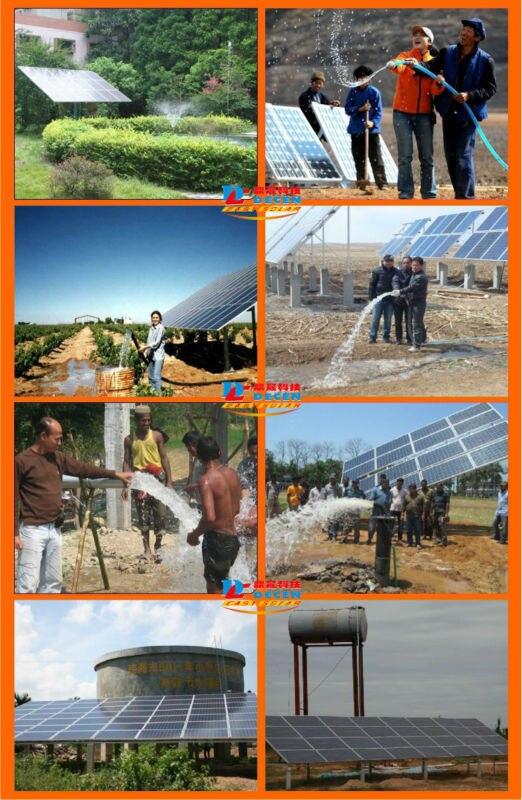DECEN @ 4000 Watt Wasserpumpe + 5500 Watt PV Pump Inverter Für Solar pumpsystem Anpassung Wasser Kopf (50 32 mt), Täglich Wasserversorgung (60 100m3 - 5