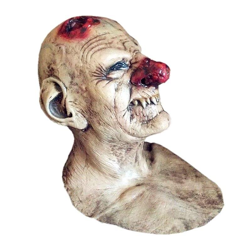 ⃝Scary Joker máscara de látex payaso horror Máscaras dientes viejo ...