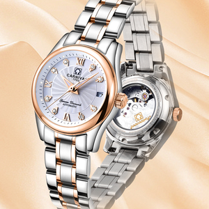 Image 3 - カーニバル女性の腕時計高級ブランド自動機械式時計サファイア防水レロジオ feminino C 8830 8