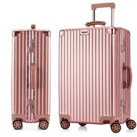 26/29 Aluminum Draw Bar Box Hard Trolley Suitcases Pure Bags Luggage 1 pc
