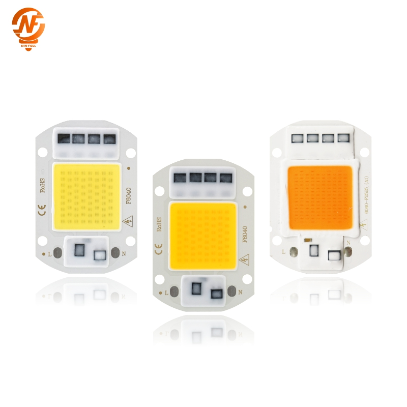 LED COB Chip For Grow Plant Light Full Spectrum 220V 110V 20W 30W 50W For Indoor Plant Seedling Grow And Flower Growth Lighting