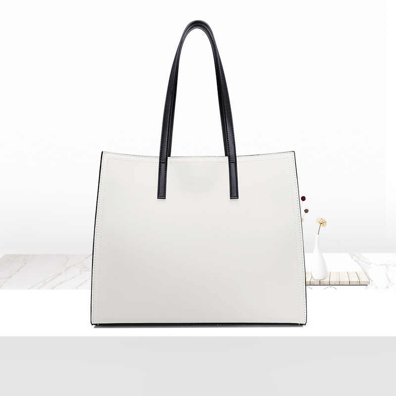 Famous Brand Designer Genuine Leather Women Shoulder Bags Simple Fashion Style Totes Bag Casual Women Leather Handbags