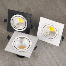 7W 10W 15W Dimmable COB LED Downlight 110v 220v Spot DownLights Wholesale cob Recessed down lights